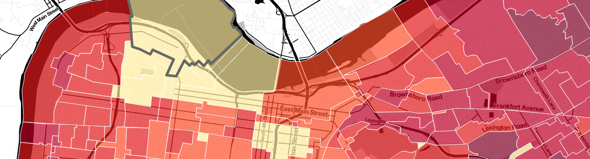 Mapping Louisville Voter Turnout by Precinct, Primary 2014 feature image