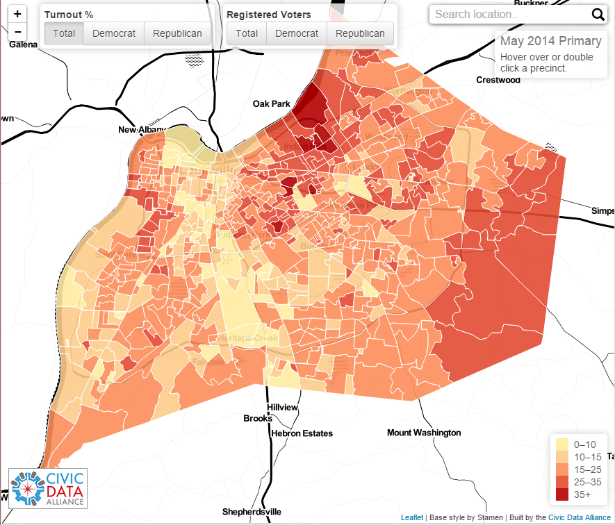 Voter Turnout Map